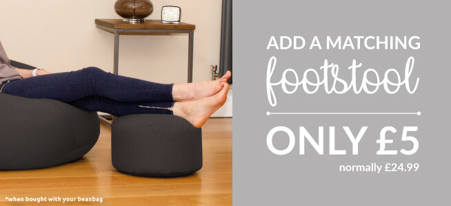 Why not add a footstool to your beanbag for a fiver